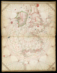 Nautical Chart Of Western Europe, 1473